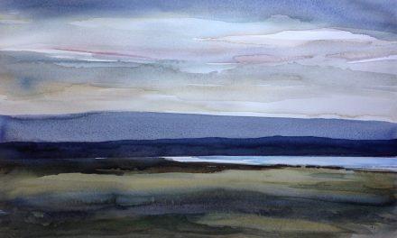 """I naturen och dess spännande palett finner Iréne Viberg sin inspiration: """"Jag försöker fånga atmosfären från platsen där jag sitter"""""""