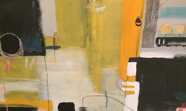 """""""Jag gillar slumpen, det råa och lite slarviga i min konst"""" – För Kia Kinell går skapandet och terapin hand i hand."""