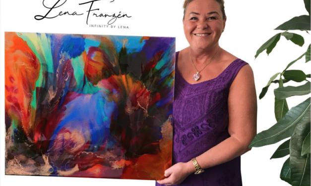 Konstnären Lena Franzén sadlar om – Från textilier, havskajaker & hästar skapar hon numera med flödande färger & positiva energier