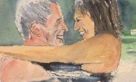 """""""Det var kärlek vid första öronkastet""""– konstnärsparet som träffades via en kontaktannons"""