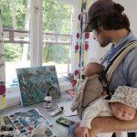 Tvillingflickorna fick Johan att måla sig in på Liljevalchs Vårsalong