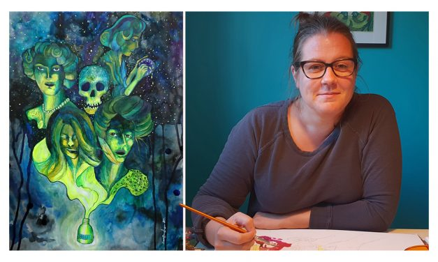 Ett människoöde – det får Emma Bengtssons fantasi och kreativitet att flöda och det mynnar ofta ut i ett groteskt men vackert motiv