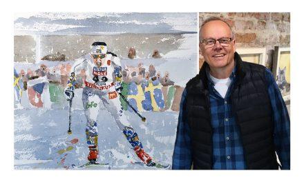 Han är landskapsmålare – men hans nästa stora utställning är en hyllning till den svenska idrottseliten