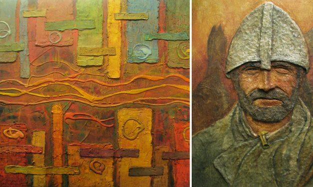 Livet fick honom att ta ytterligare steg i sitt konstnärskap – samtidigt vurmar han fortfarande för krigarna med de vackra hjälmarna