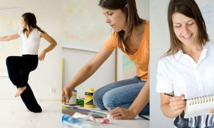 Hitta dig själv med rörelse & måleri