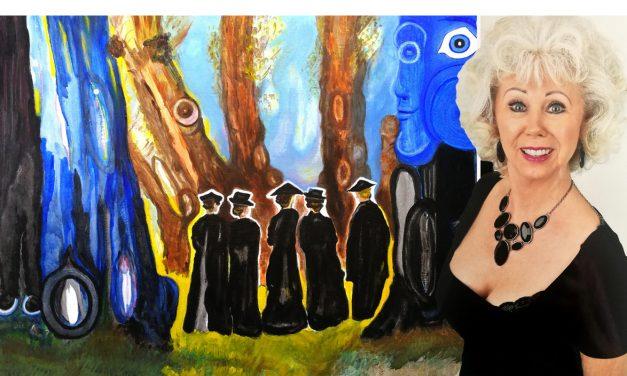 """Margareta Edelsvärd lever ett rikt liv – något som speglar av sig i hennes färgstarka målningar: """"Vill ta till vara på de spontana ögonblicken"""""""