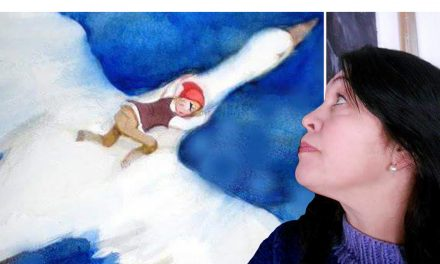 """Med inspiration från Diego Rivera och fablernas värld – har Marja i Myrom lyckats med konststycket att trollbinda sin publik: """"De gillar berättelserna"""""""