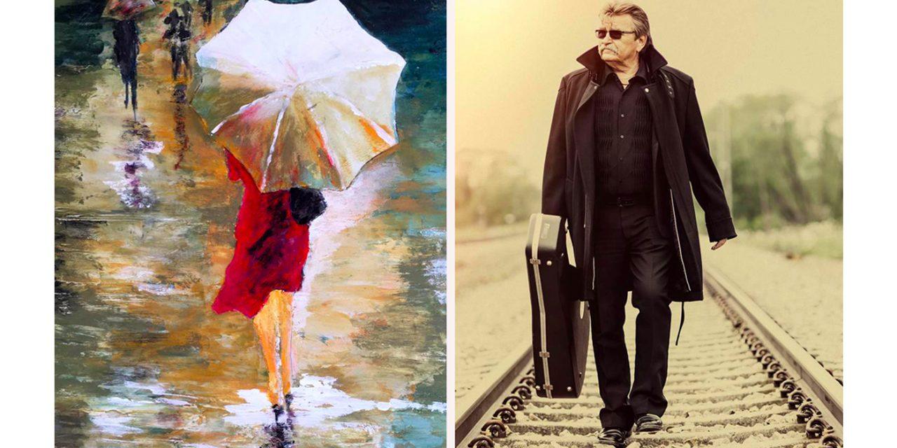 Västerås egen Johnny Cash låter livet leda honom – när han skapar konst i de mest levande och starka färger du kan tänka dig