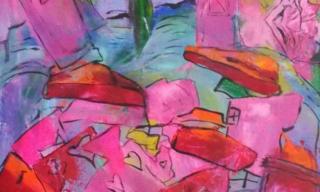 Konstnären Rosy Lindvall har slagit sig fri genom kreativiteten